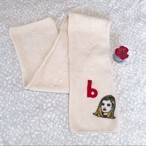 Gap Barbie Scarf RARE Cream Wool Cable Vintage